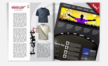 Magazine template.