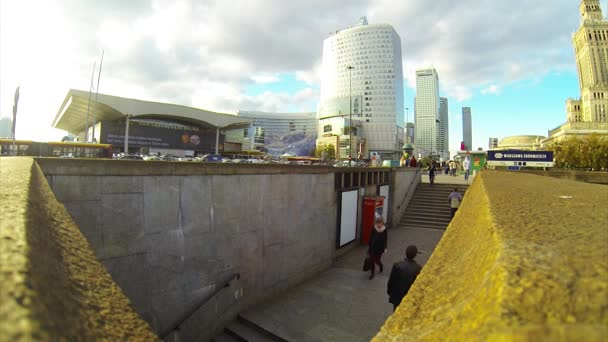 People go through the underpass