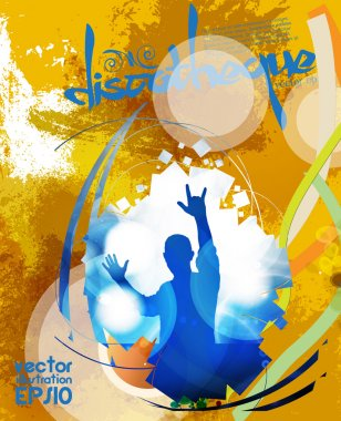 Discotheque party vector