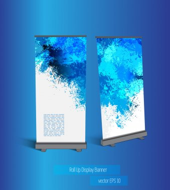 Banner with abstract template