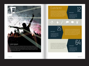 Template music event magazine