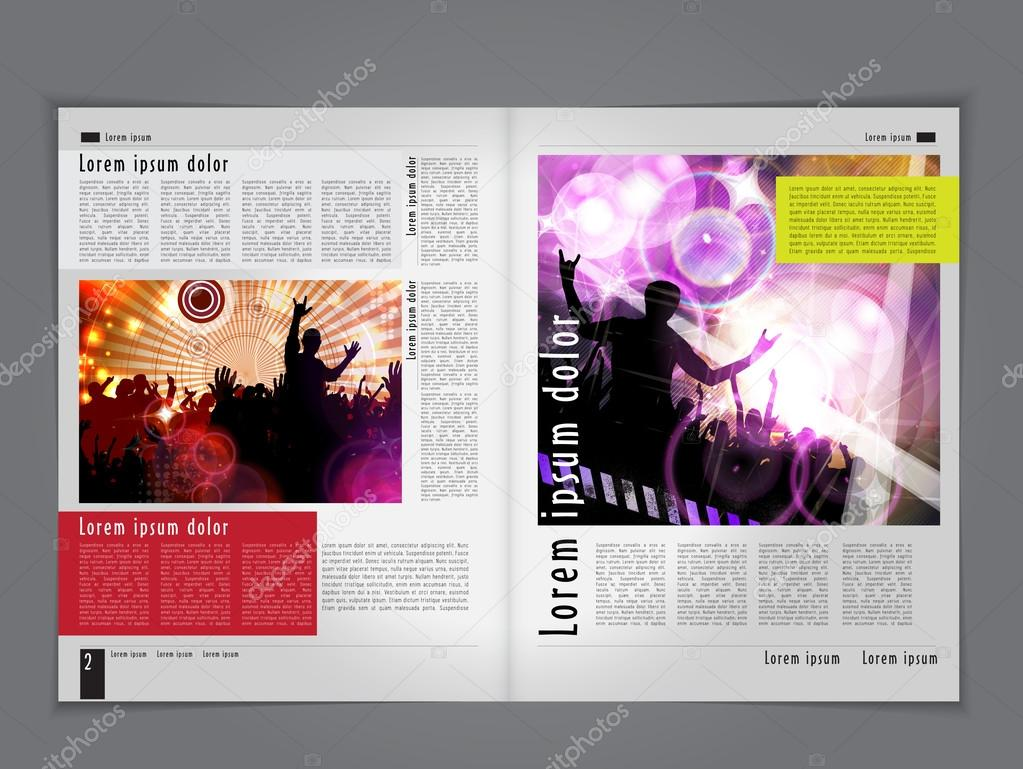 Music magazine layout