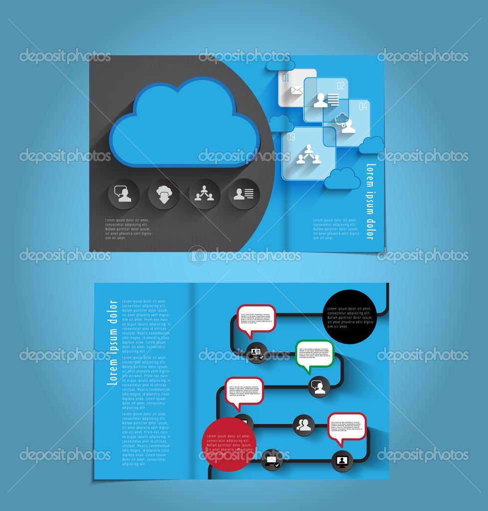 Social Network Template Stock Vector Zeber2010 48926523