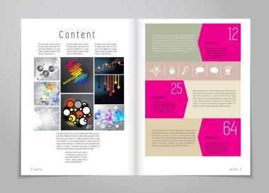 Design layout for magazine