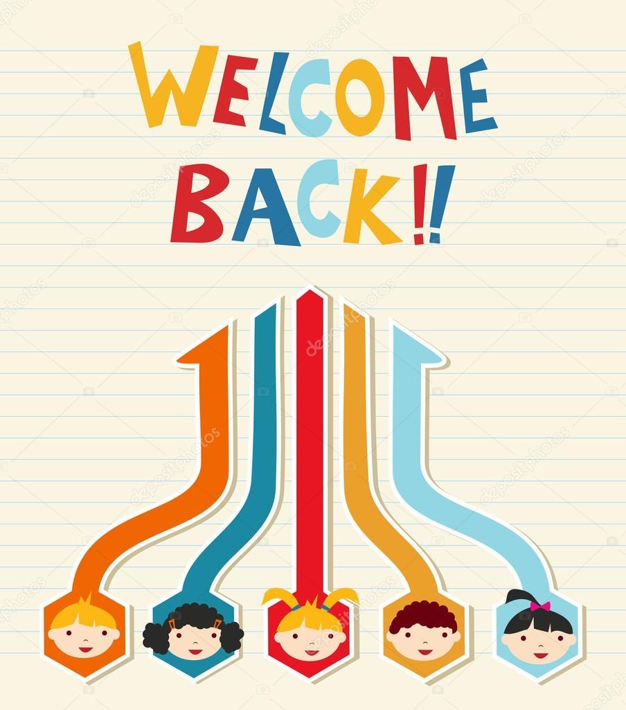 Bienvenido a red de estudiantes de la escuela — Archivo Imágenes ...