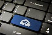 Modrý mrak rss počítačové klávesy, internet obchod backgro