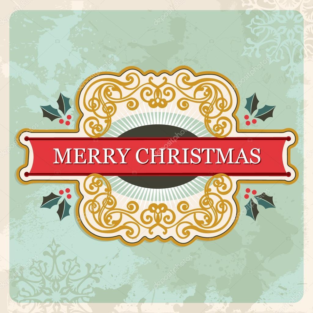 Frohe Weihnachten-retro-Zeichen — Stockvektor © cienpies #14886081