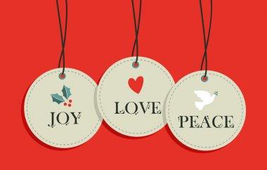 Christmas hang tags sale elements set