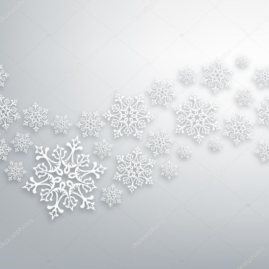 patrón de los copos de nieve de Navidad blanca — Vector de stock ...