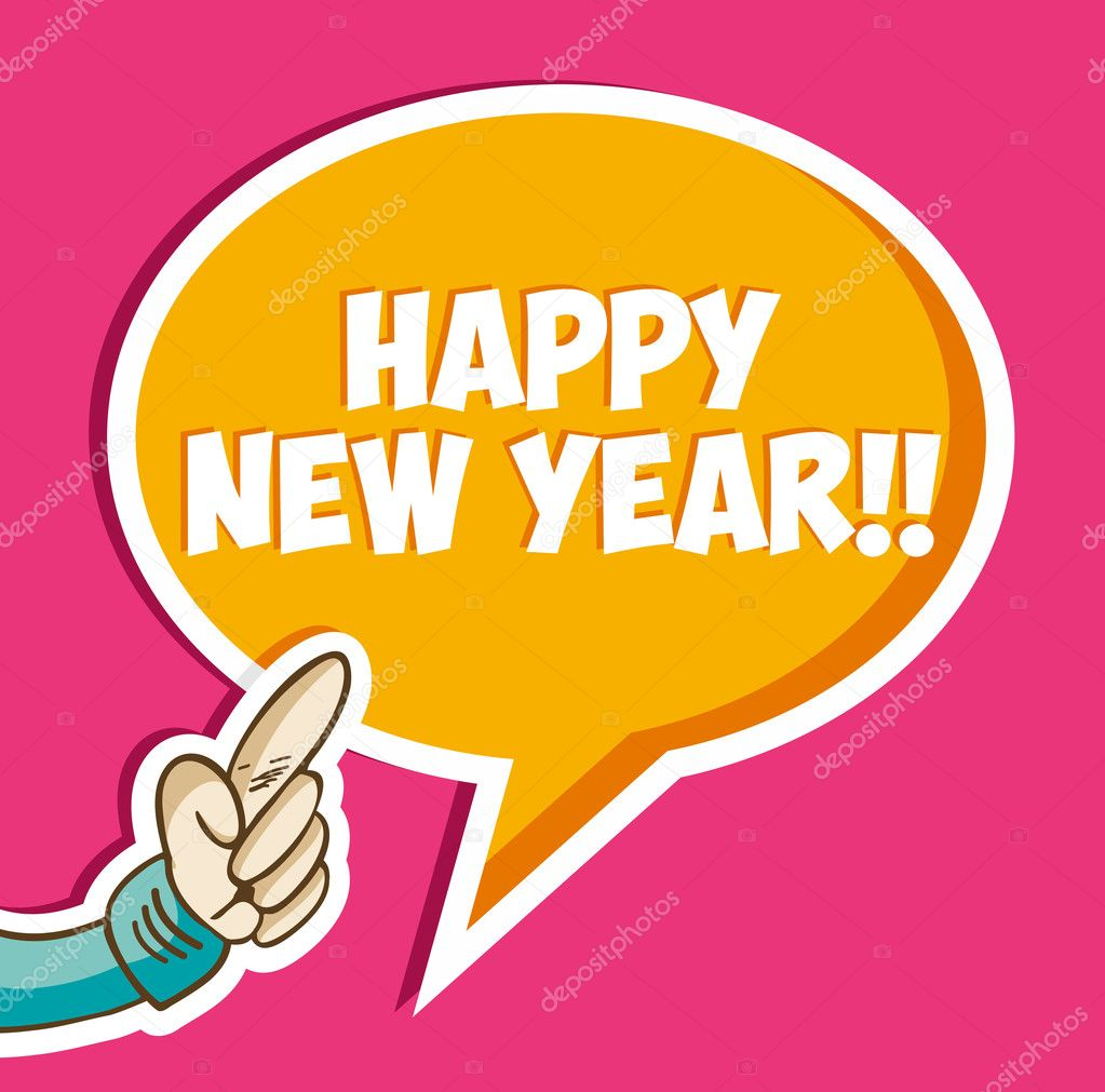 Gelukkig Nieuwjaar Sticker Zeepbel Stockvector C Cienpies 15780035