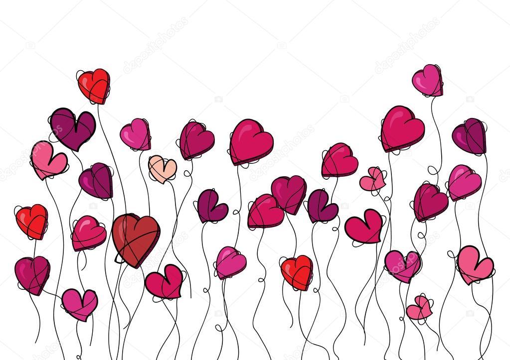 Valentinstag Blumen Liebe Herz — Stockvektor © cienpies #19494103