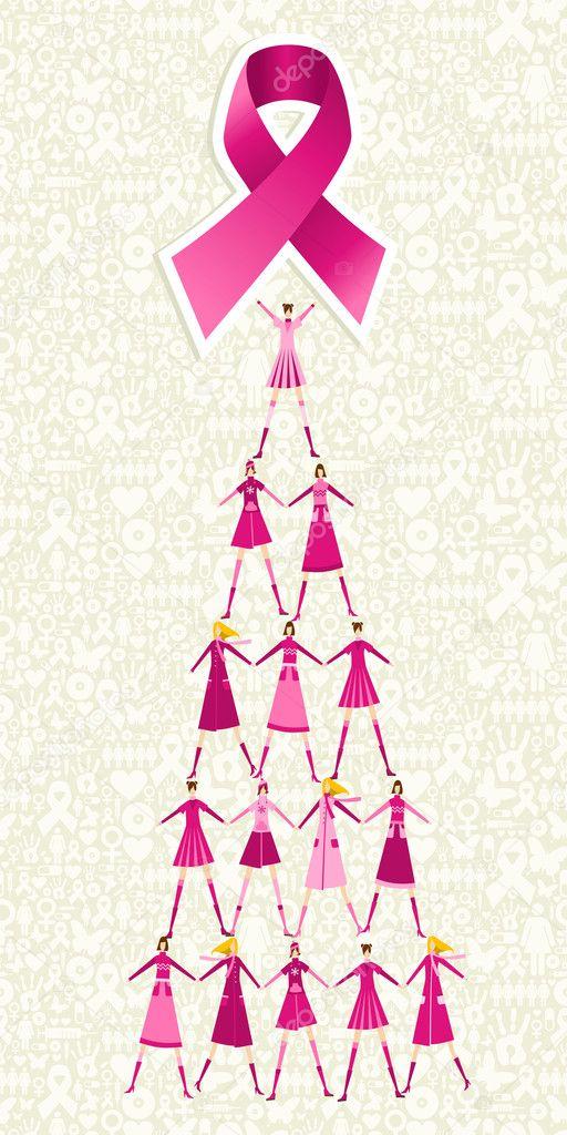 Imágenes: del cancer de seno para colorear | árbol de pino de día de ...