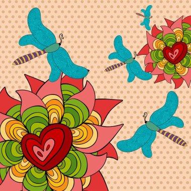 Vibrant spring background