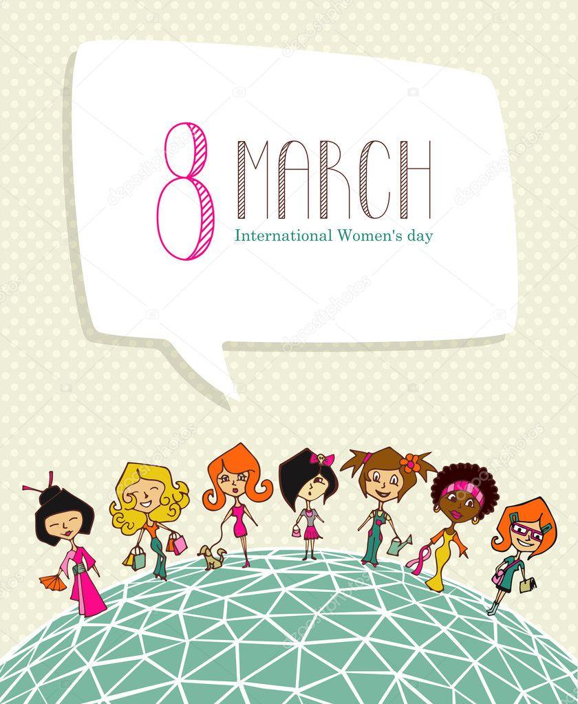 Değişim 8 Mart Kadınlar Günü Stok Vektör Cienpies 21465957
