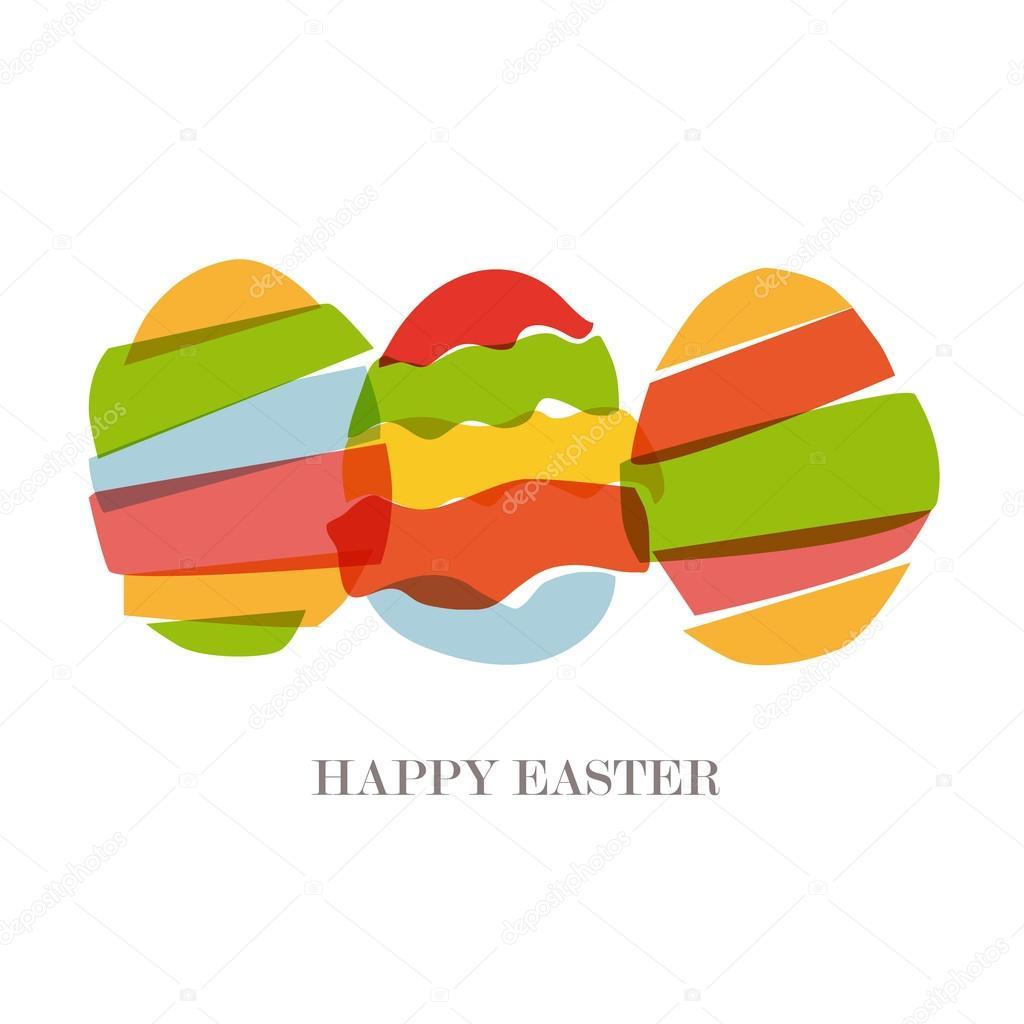 silueta de huevos de Pascua transparente — Vector de stock ...
