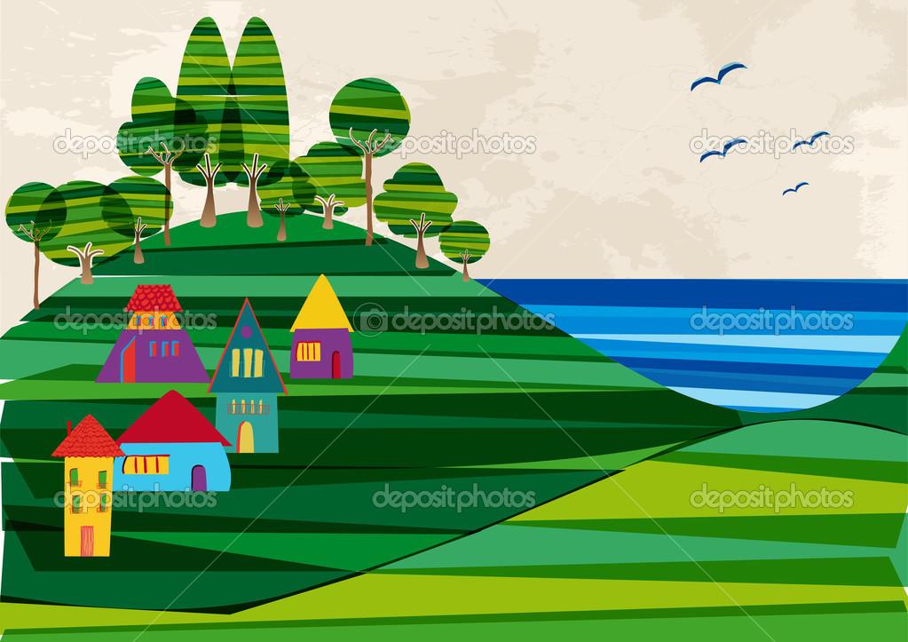 Paisajes Faciles Para Dibujar De Playas A Color Ciudad De La Costa