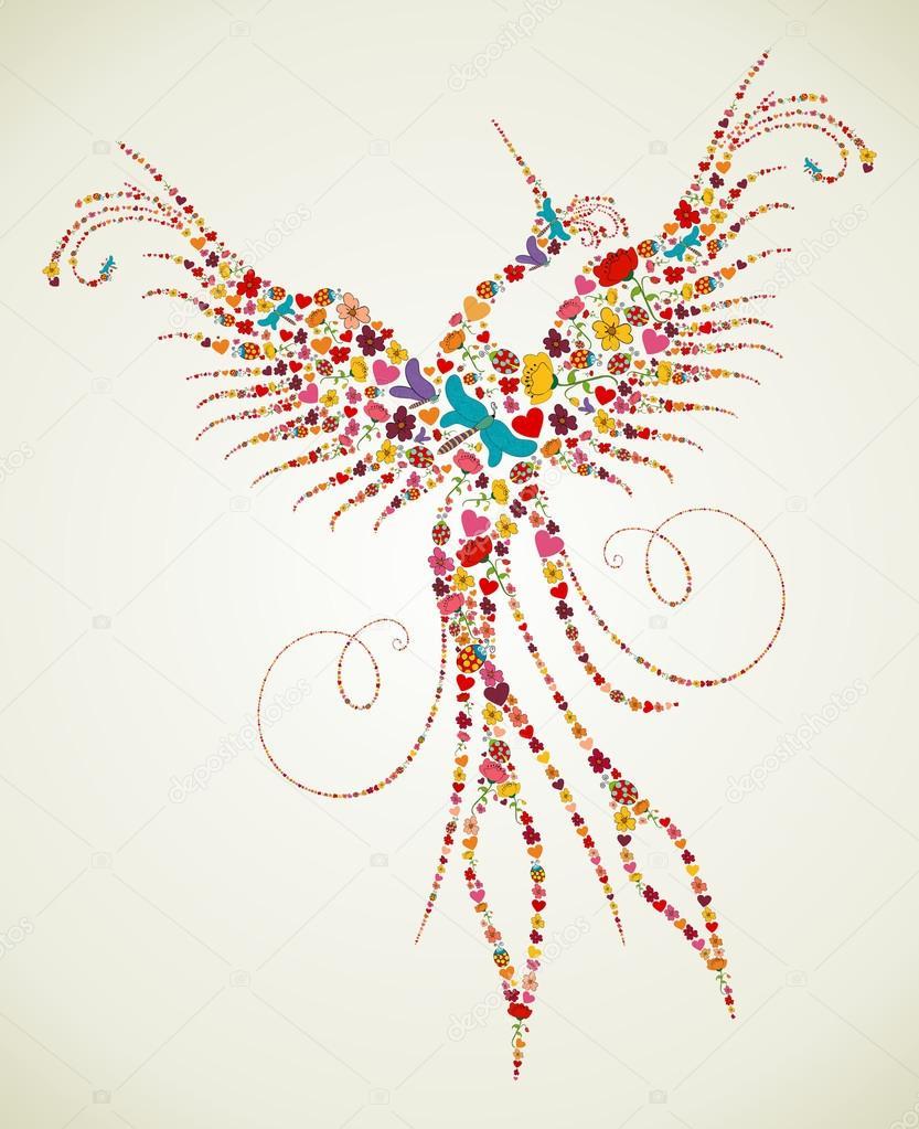 Spring Pheonix bird texture