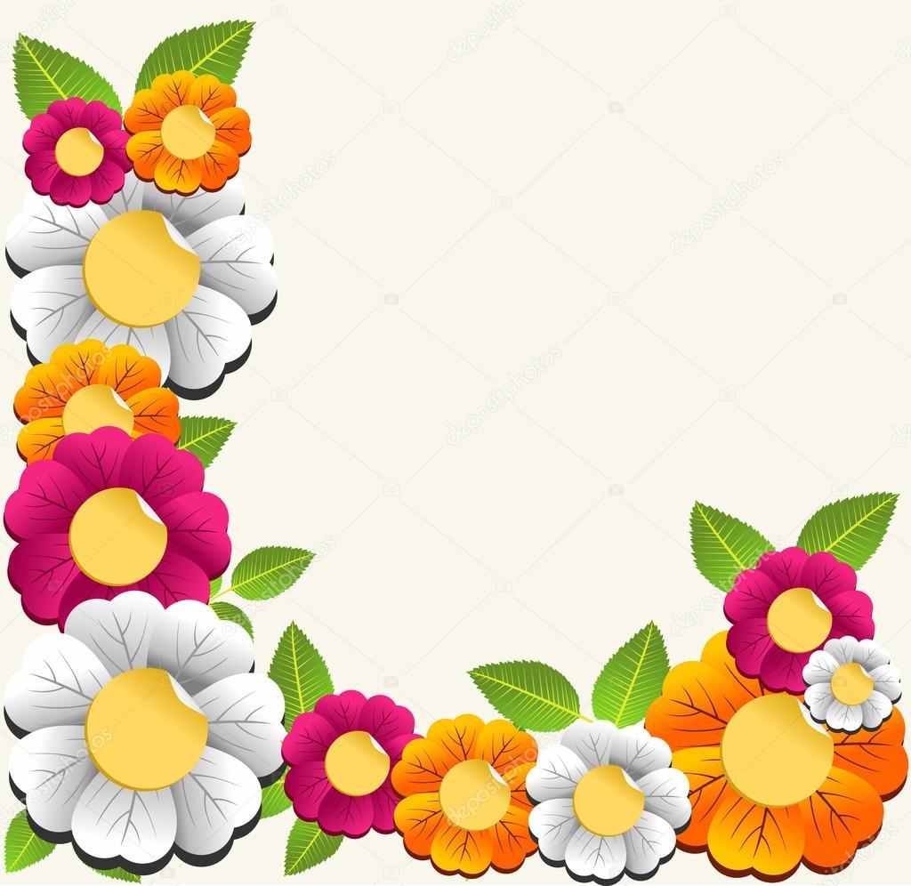 Flores De Colores Para Dibujar Fondo De Flores De Colores Vector