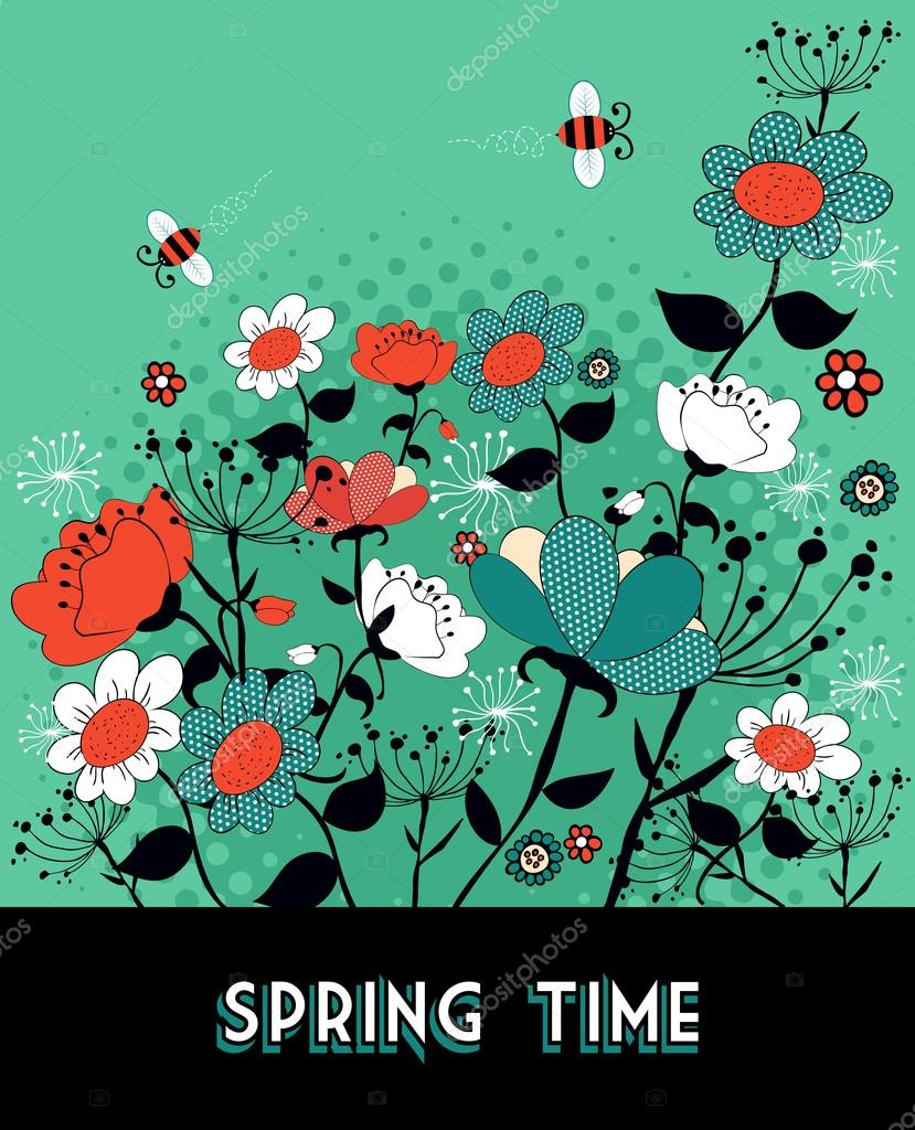 Spring time garden background