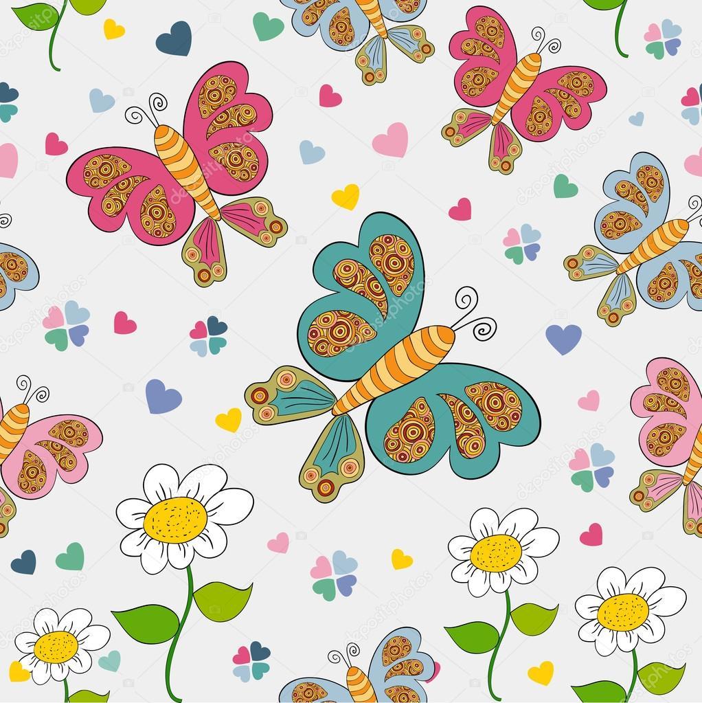 patrón sin costuras de primavera — Vector de stock © cienpies #22953952