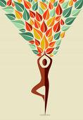Fotografie Indien Yoga menschlichen Baum