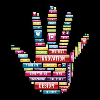 Innovation hand concept