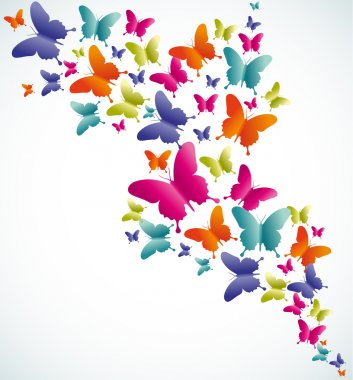 Spring butterfly colorful composition. Vector illustration layered for easy manipulation and custom coloring. clip art vector