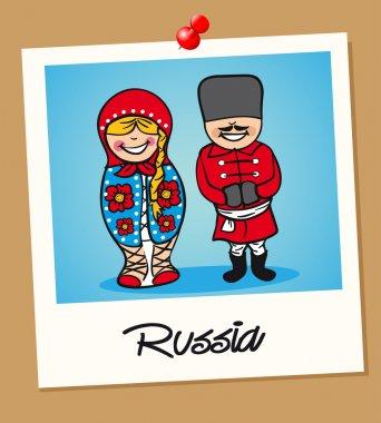 Russia travel polaroid