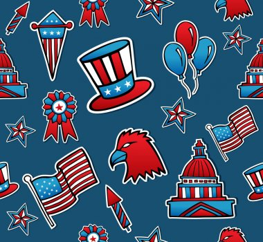 USA seamless pattern background