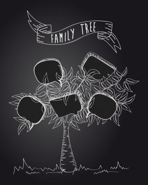 Vintage social media tree