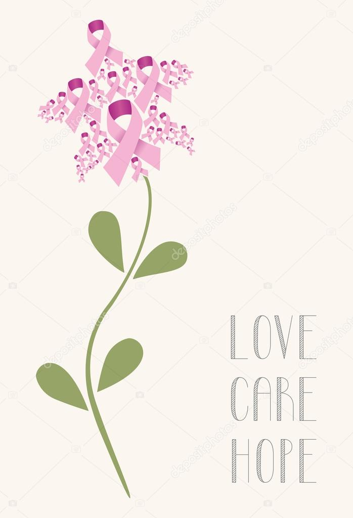 Love care hope flower concept
