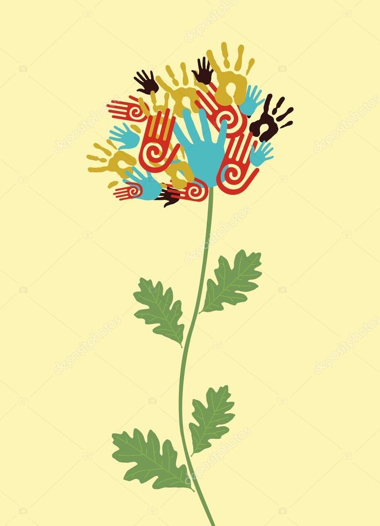 Unity flower concept