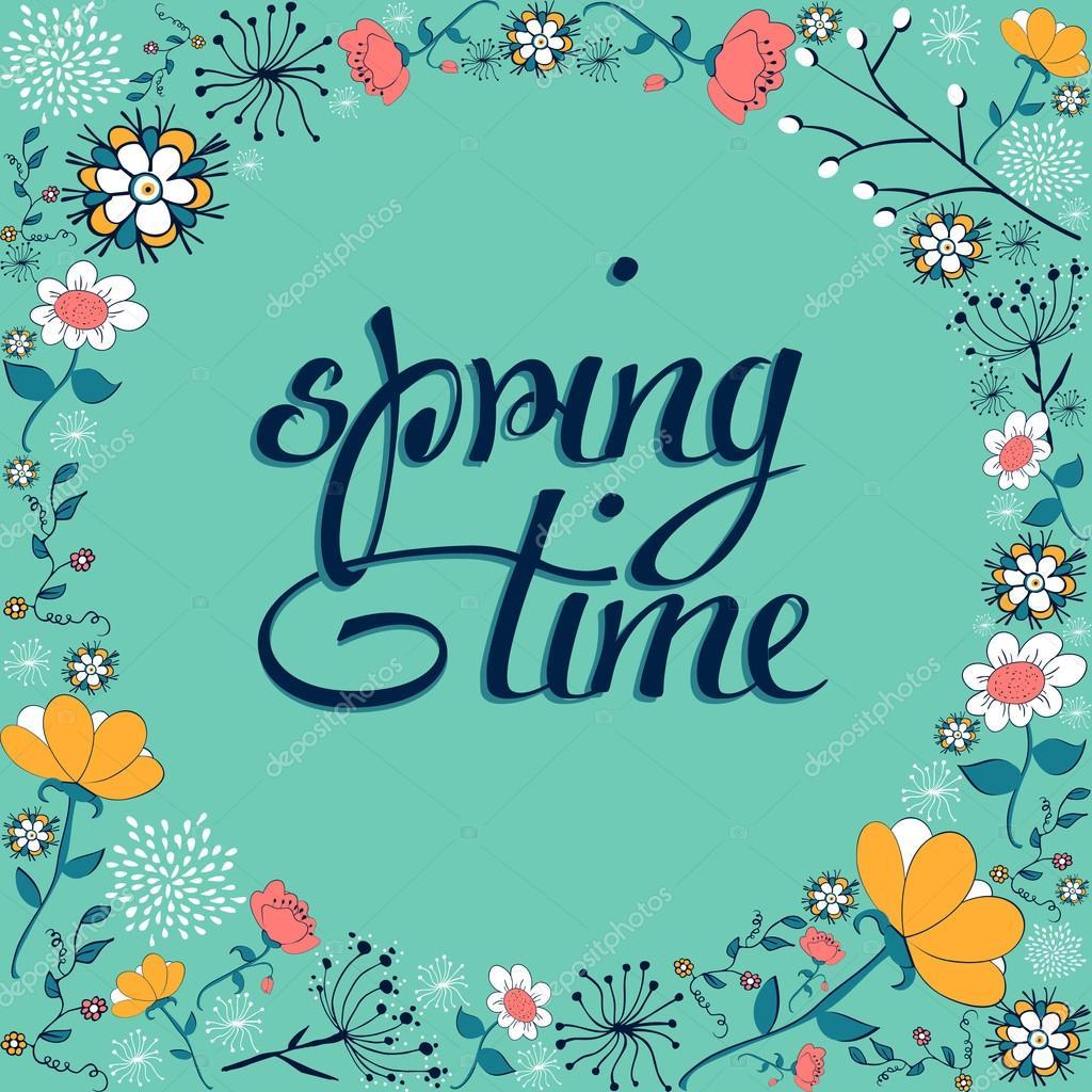 primavera tiempo vintage flor fondo — Archivo Imágenes Vectoriales ...