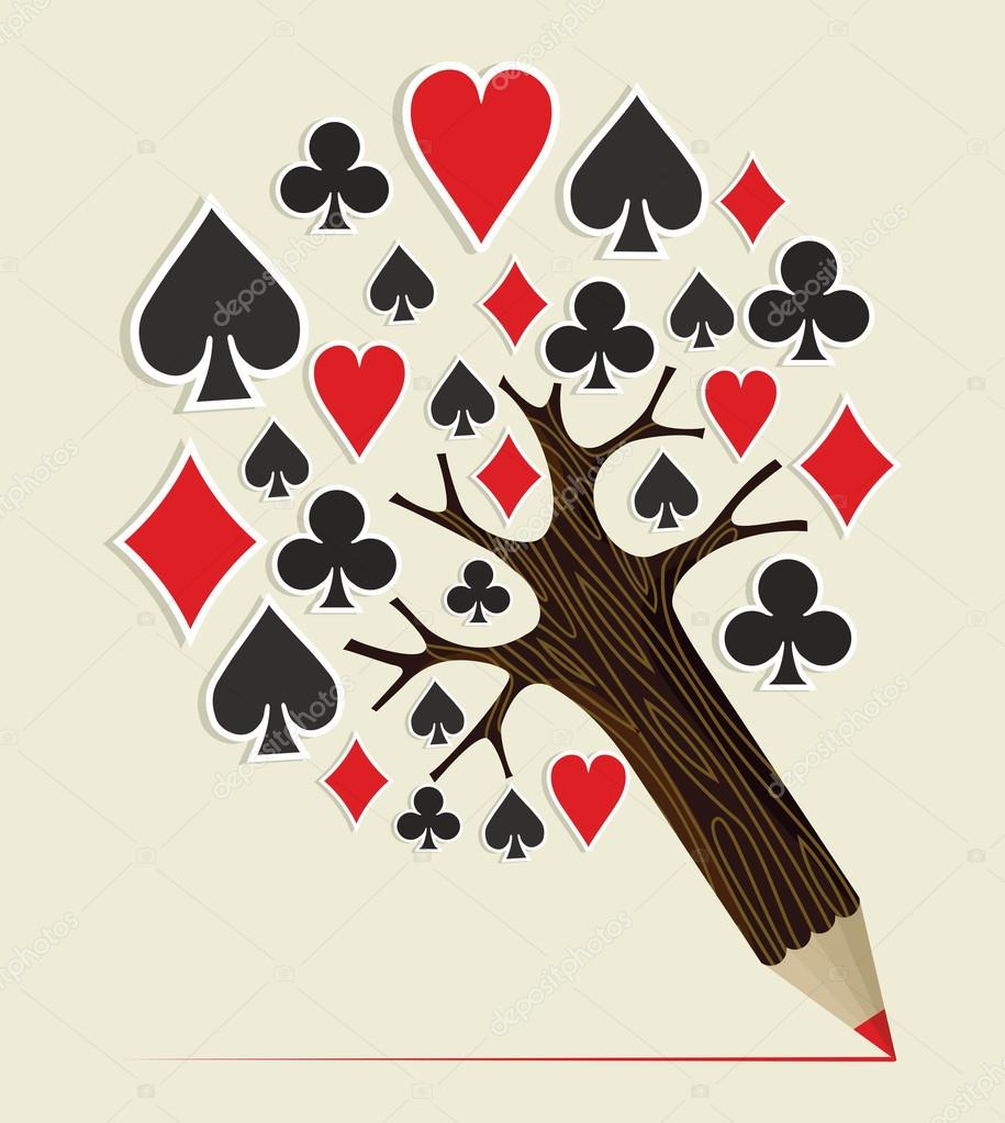 Casino Poker concept tree