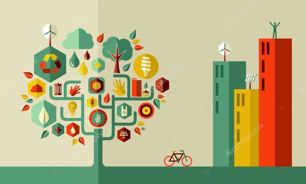 Green city concept