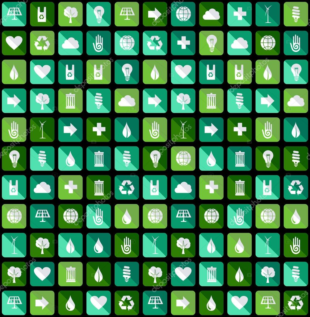 Environmental Green flat icons