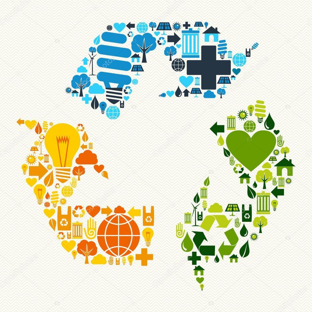 ícones de símbolo verde reciclar vetor de stock cienpies 27642831