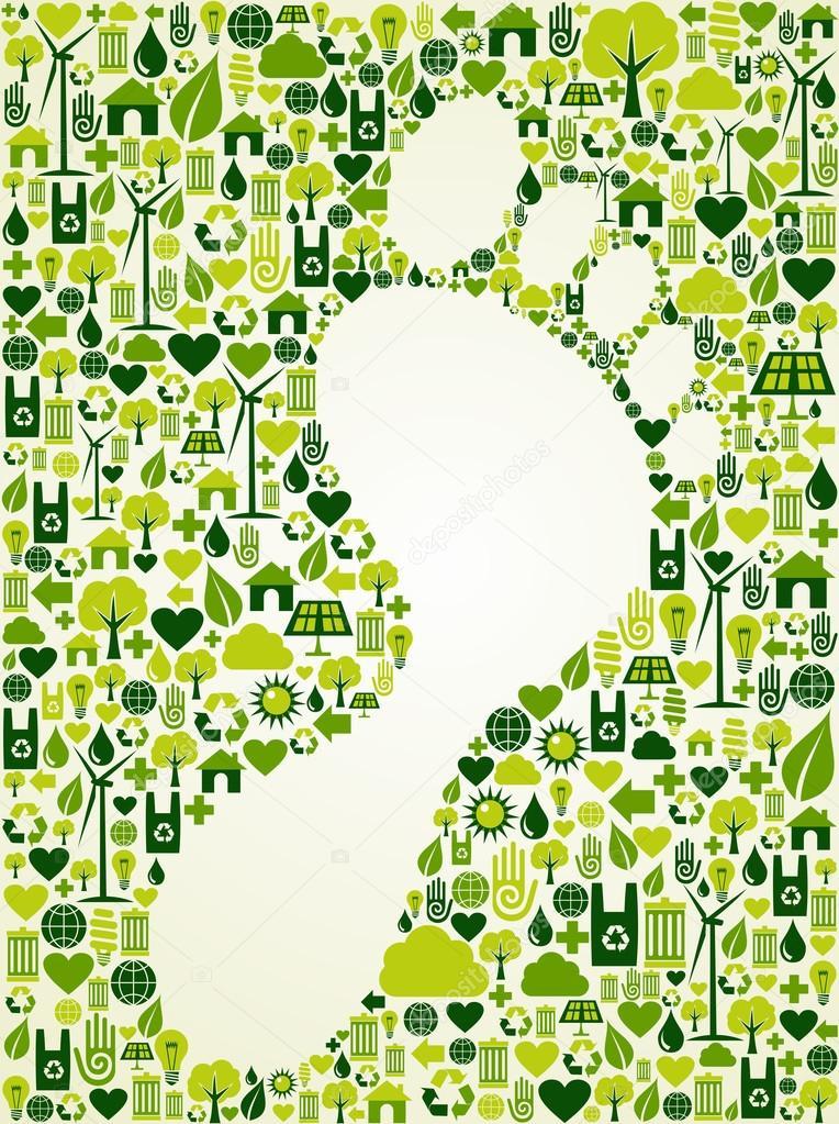 Green foot print design