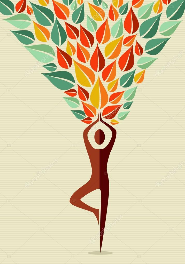 India yoga human tree