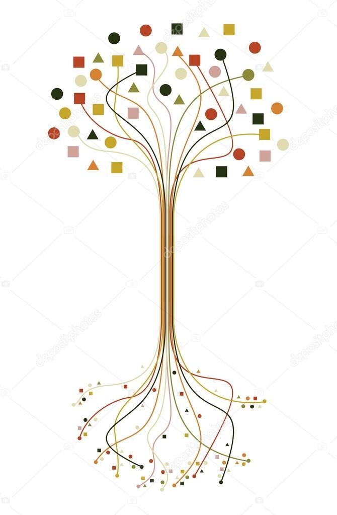 Resumen de las raíces y ramas de árbol conjunto — Archivo Imágenes ...