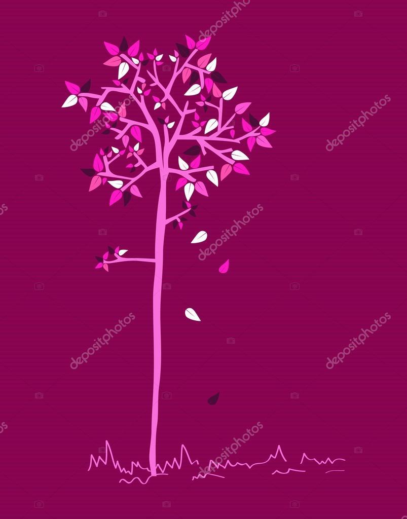 conjunto colores Vintage hojas de árbol — Vector de stock © cienpies ...