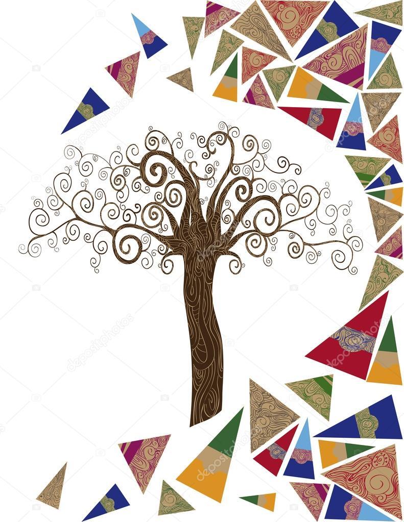 Art tree wave concept