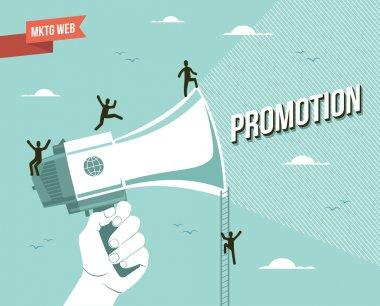 Pazarlama web promosyon illüstrasyon