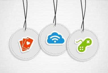 Hanging Gaming badges set