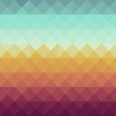 Colorful retro hipsters triangle seamless pattern background. Vector file layered for easy manipulation and custom coloring. clip art vector