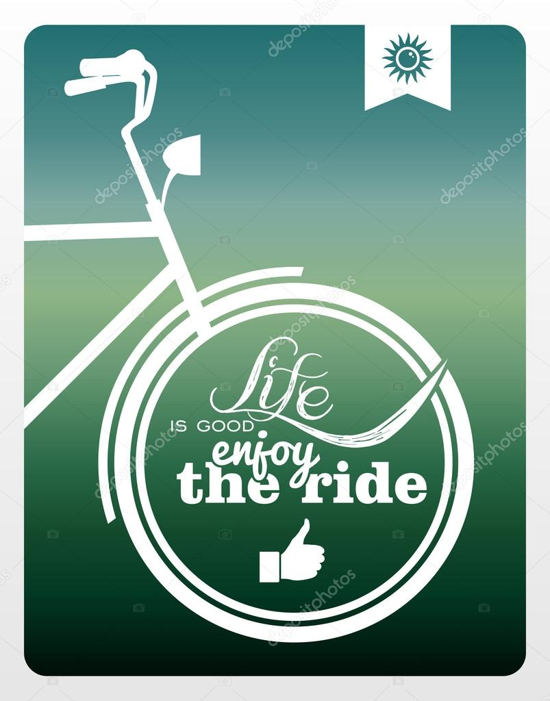 Retro life style bicycle poster.