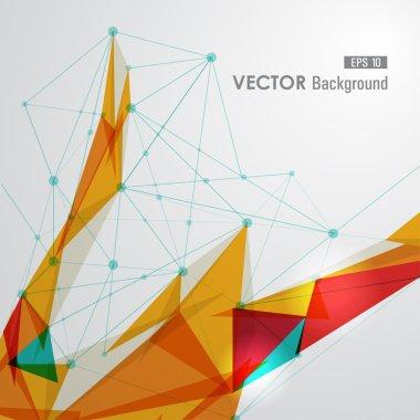 Colorful web geometric transparency.