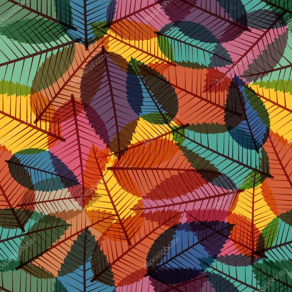 Retro autumn leaves seamless pattern background. EPS10 file.