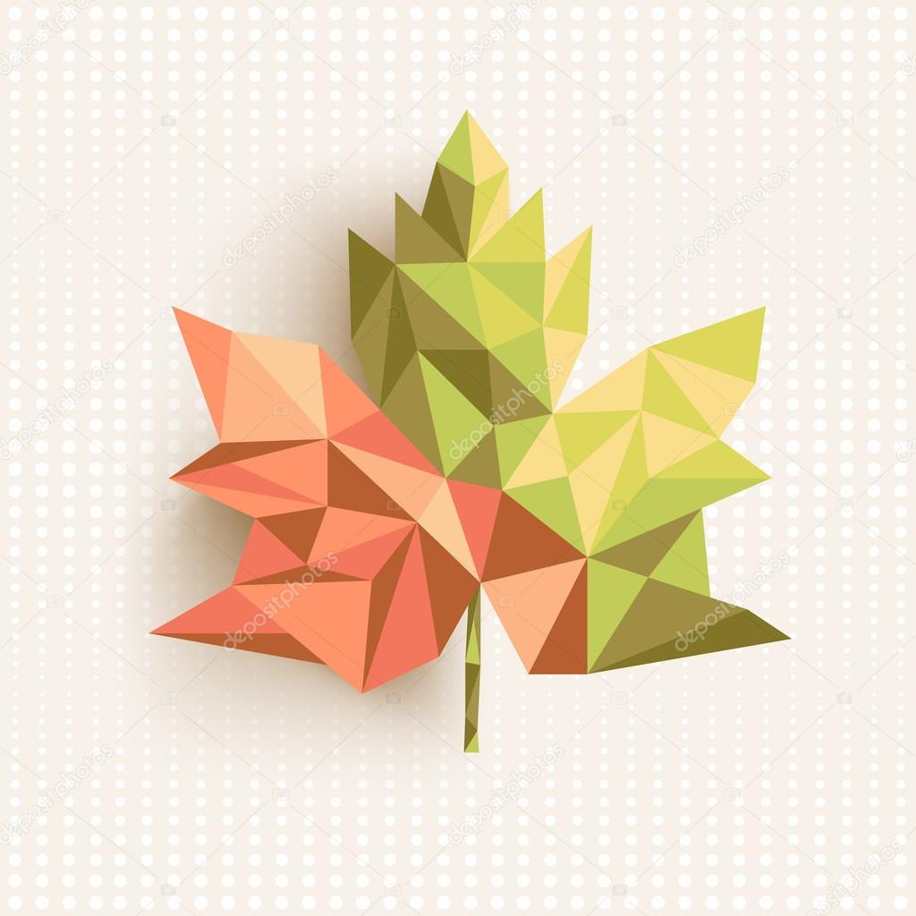 Fall season triangle leaf composition concept background. EPS10