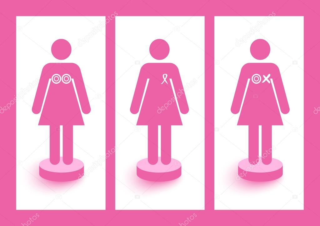 Breast Cancer Awareness Symbols Concept Illustration Eps10 File